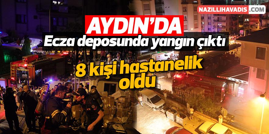 Aydın'da ecza deposunda yangın çıktı