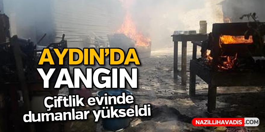 Aydın'daki çiftlik evinde yangın çıktı