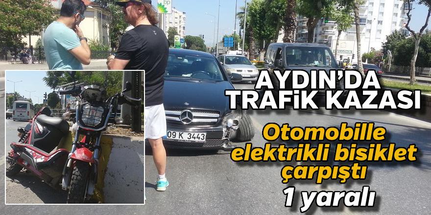 Aydın'da trafik kazası ! 1 yaralı