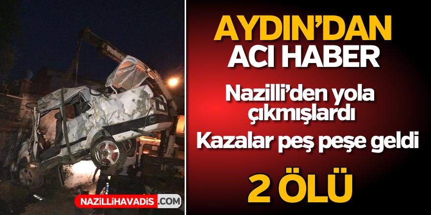 Aydın'da kaza; 2 ölü