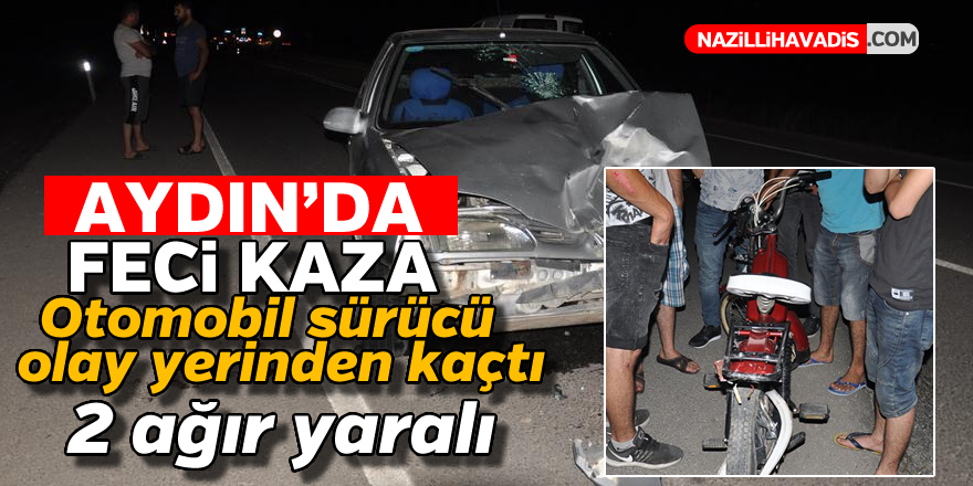 Aydın'da feci kaza ! 2 genç ağır yaralandı