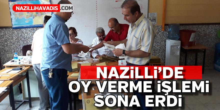 Nazilli'de oy verme işlemi sona erdi