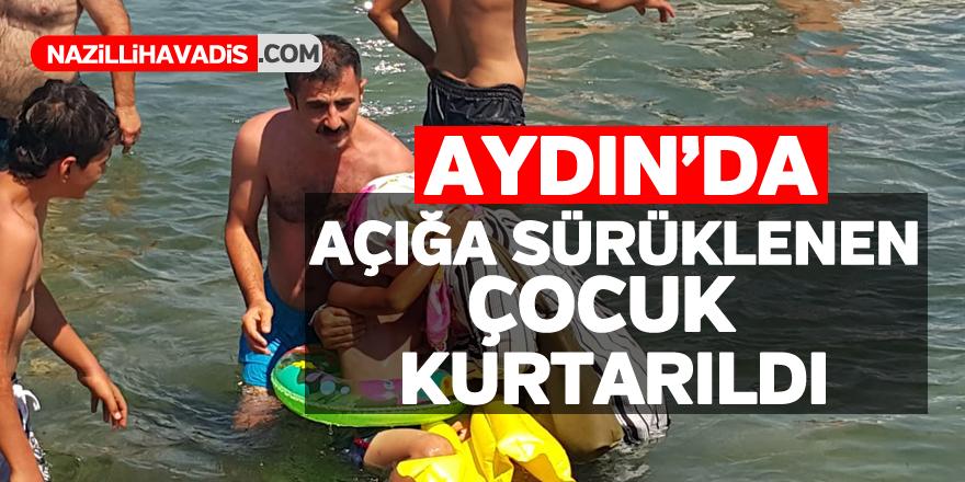 Denizde simidiyle açığa sürüklenen çocuk kurtarıldı