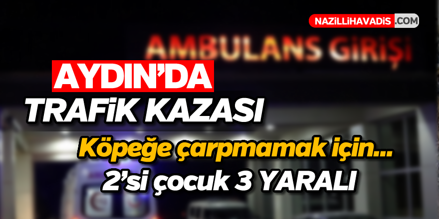 Aydın'da tkaza; 2'si çocuk, 3 yaralı