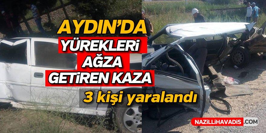 Aydın'da Yürekleri Ağza Getiren Kaza