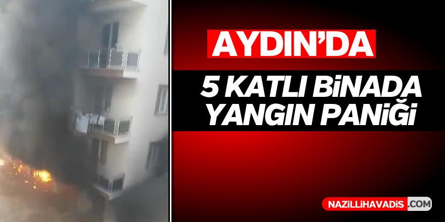 Aydın'da 5 katlı bina alevlere teslim oldu