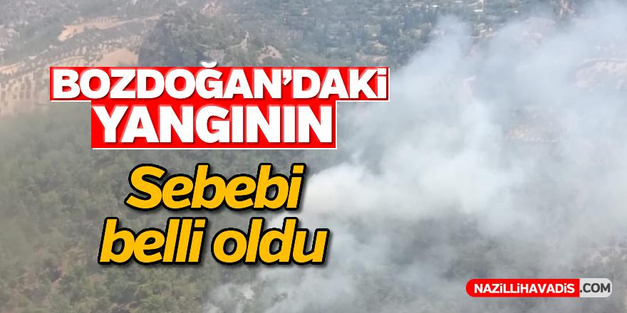 Bozdoğan'daki yangının sebebi belli oldu