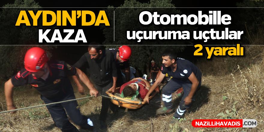 Aydın'da otomobille uçuruma düşen iki kişi kurtarıldı