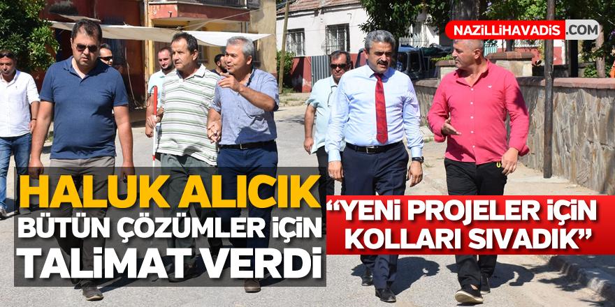 Başkan Alıcık'a Arslanlı'da sevgi seli