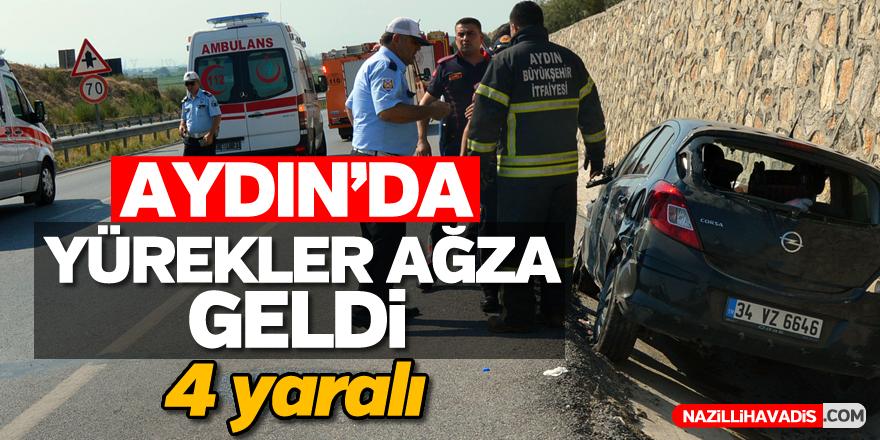 Aydın'da kaza; 4 yaralı