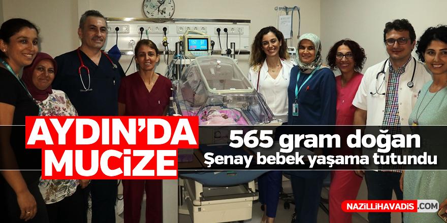 565 gram doğan Şenay bebek yaşama tutundu