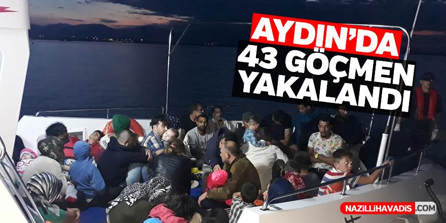 Aydın'da 43 düzensiz göçmen yakalandı