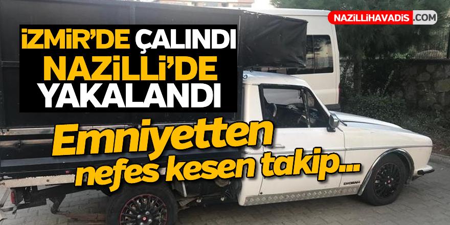 İzmir'de çaldı, Nazilli Polisinden kaçamadı