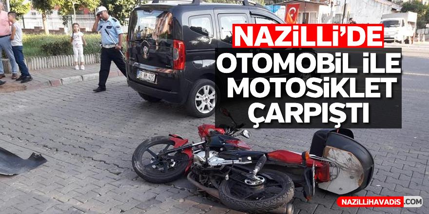 Nazilli'de trafik kazası; 1 yaralı