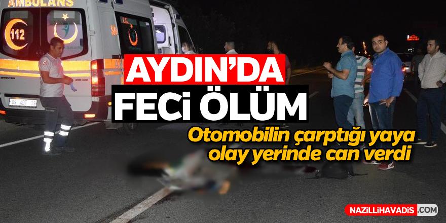 Aydın'da otomobilin çaptığı kadın feci şekilde can verdi