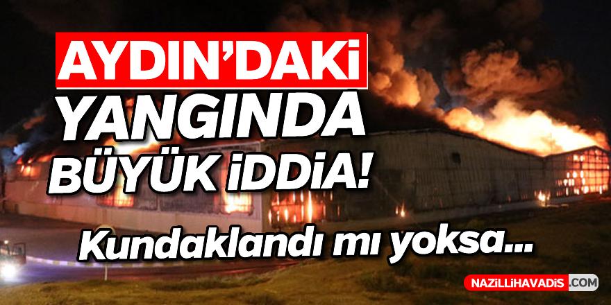 Aydın'daki yangında büyük iddia!