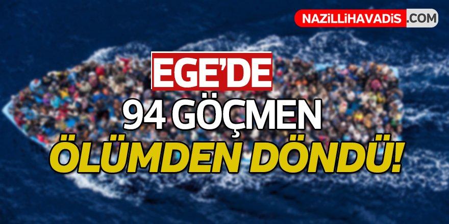 94 düzensiz göçmen yakalandı