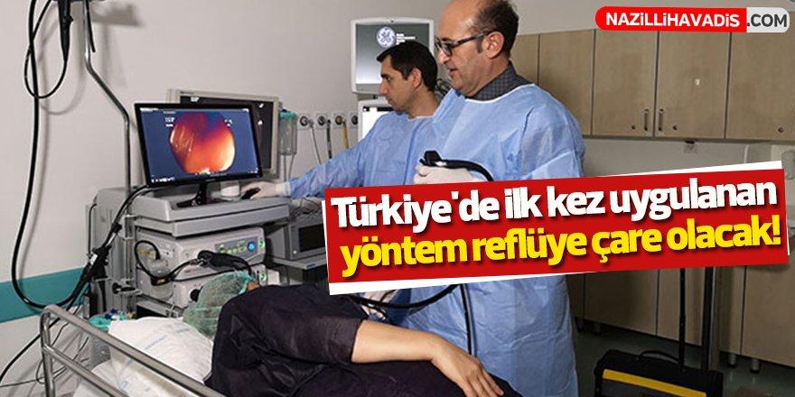 Türkiye'de ilk kez uygulanan yöntem reflüye çare olacak