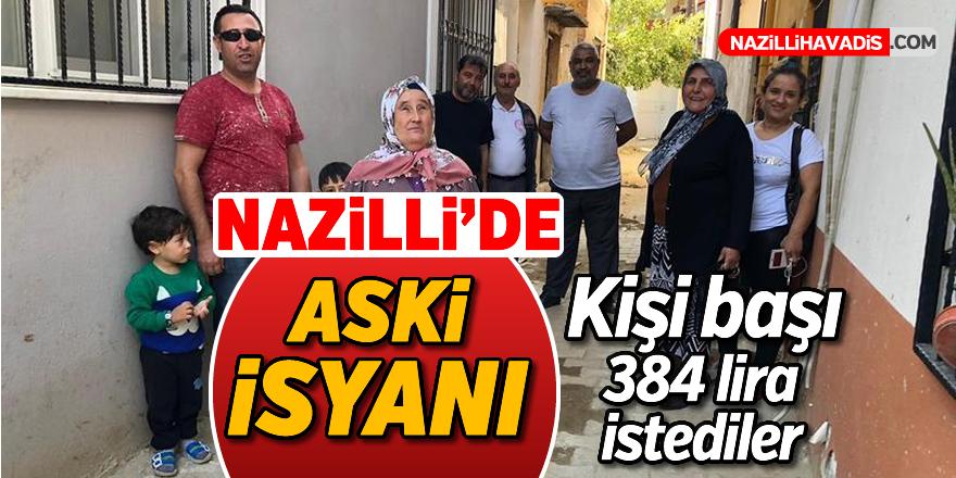 Nazilli'de ASKİ isyanı