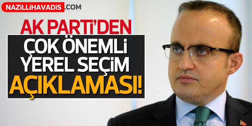 AK Parti'den çok önemli yerel seçim açıklaması
