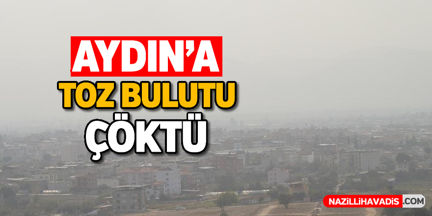 Aydın'a toz bulutu çöktü