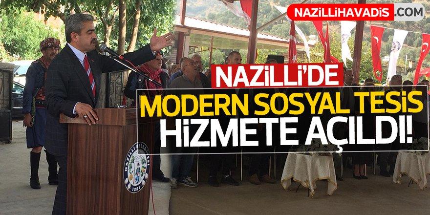 Nazilli'de modern sosyal tesis açıldı!