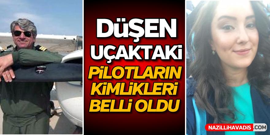 Düşen uçaktaki pilotların kimlikleri belli oldu