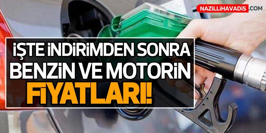 İndirimden sonra benzin ve motorin fiyatları