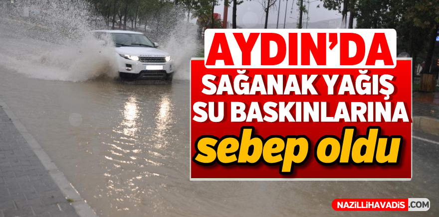 Aydın'da sağanak su baskınlarına sebep oldu