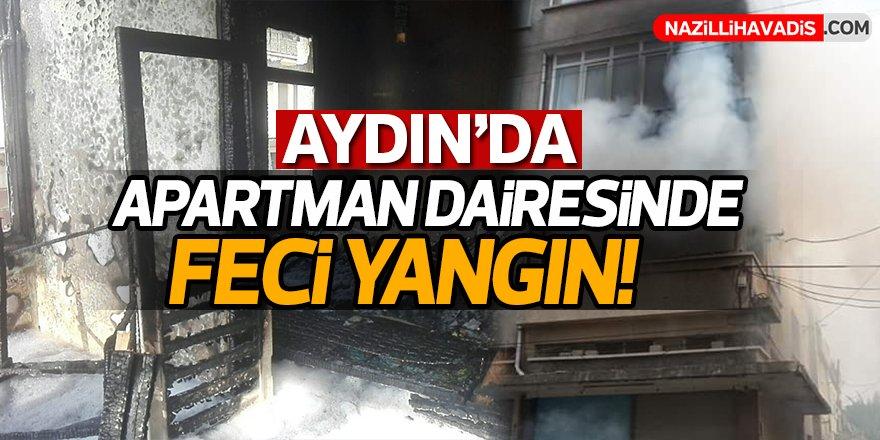 Aydın'da apartman dairesinde yangın