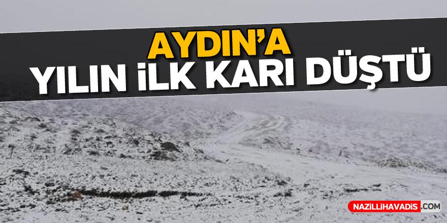Aydın'a yılın ilk karı düştü