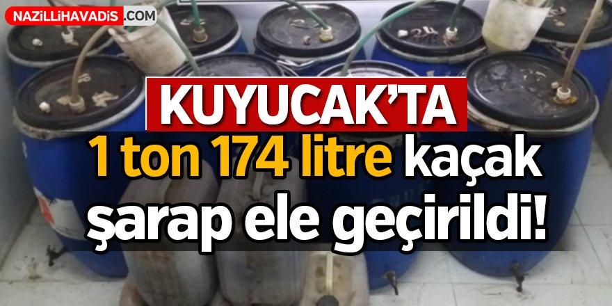 Kuyucak'ta  1 ton 174 litre kaçak şarap ele geçirildi