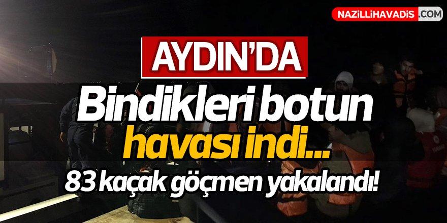 Aydın'da 83 kaçak göçmen yakalandı!