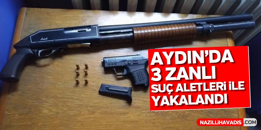 Aydın'da 3 zanlı suç aletleri ile yakalandı