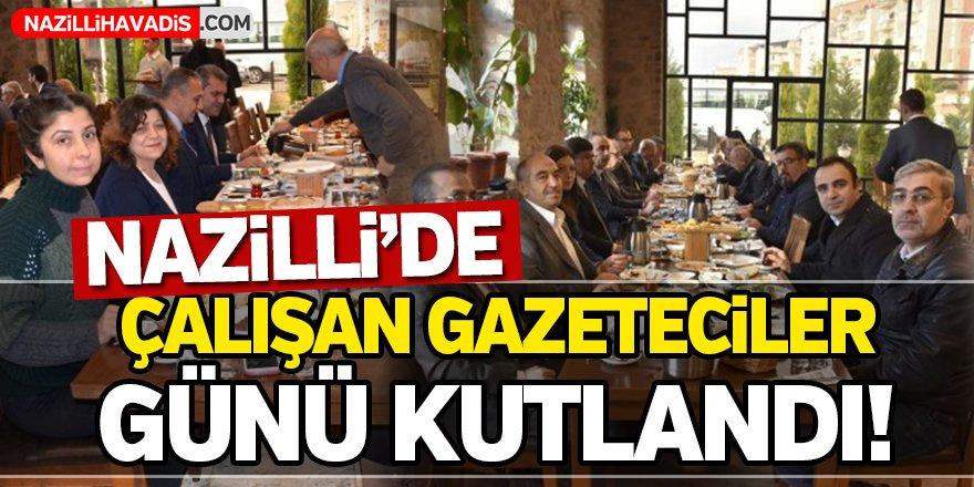 Nazilli'de 'Çalışan Gazeteciler Günü' kutlandı!