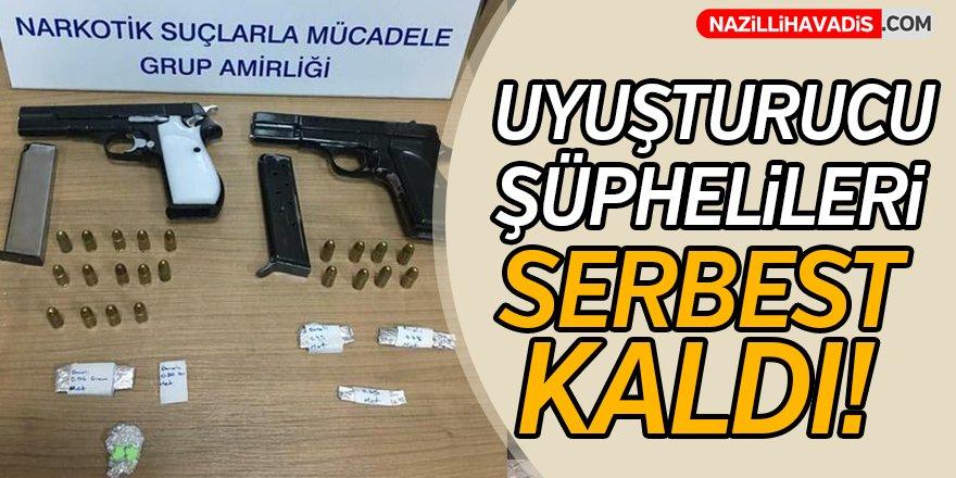 Uyuşturucu şüphelileri serbest kaldı!
