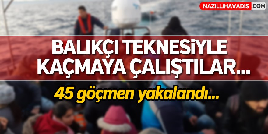 Balıkçı Teknesiyle Kaçmaya Çalıştılar