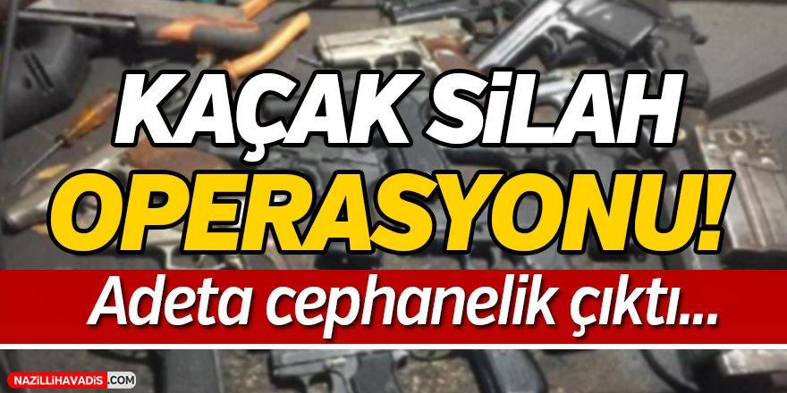 Kaçak Silah Operasyonu;53 gözaltı...