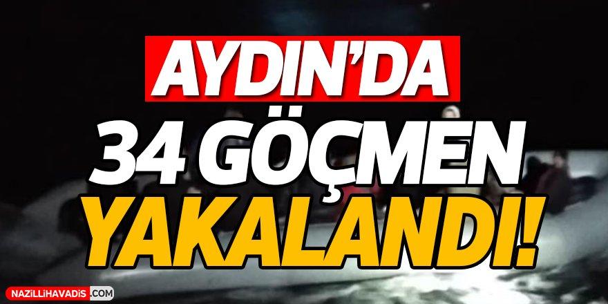 Aydın'da 34 Göçmen Yakalandı!