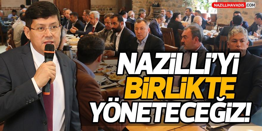 Nazilli Belediye Başkanı Kürşat Engin Özcan muhtarlarla kahvaltıda buluştu!
