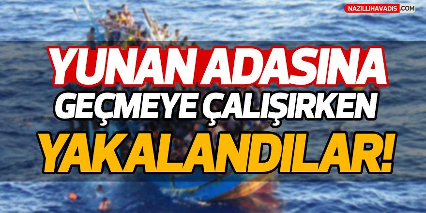 Yunan Adasına Geçmeye Çalışırken Yakalandılar!