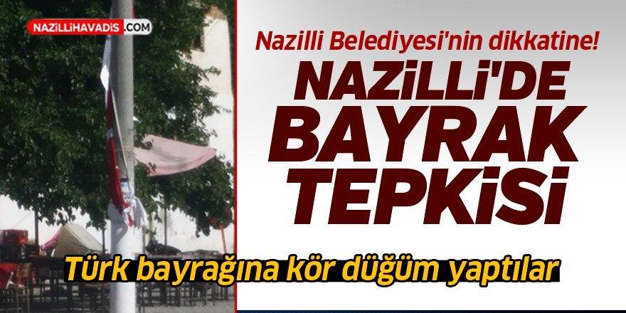 Türk bayrağına büyük saygısızlık!
