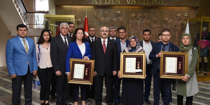 Aydın'da Devlet Övünç Madalyası ve Beratı verildi!