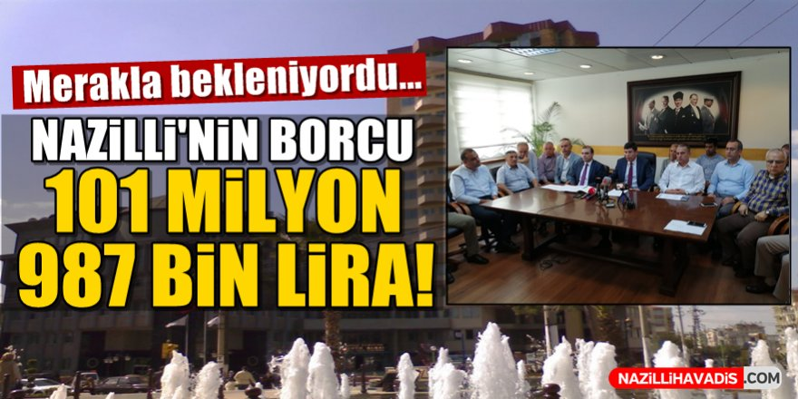 Başkan Özcan, belediyenin borcunu açıkladı!