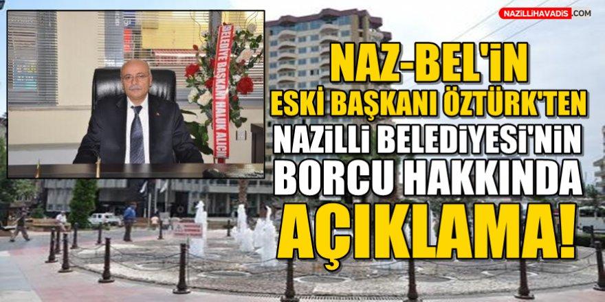 NAZ-BEL'in Eski Başkanı Öztürk'ten  Borç Hakkında Açıklama!