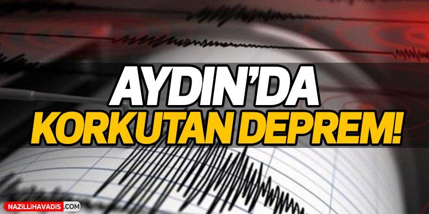 Aydın'da deprem paniği!