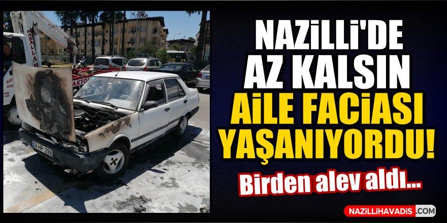 Nazilli'de az kalsın aile faciası yaşanıyordu!
