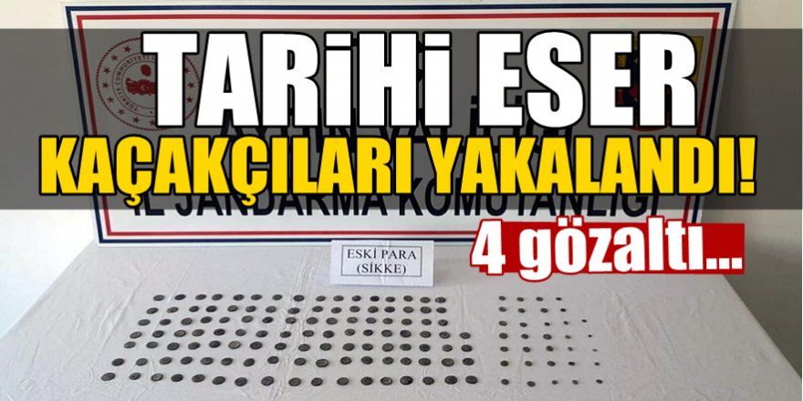 Aydın'da tarihi eser kaçakçıları yakalandı!