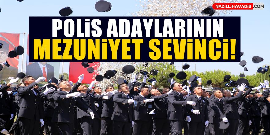 Polis adaylarının mezuniyet sevinci!