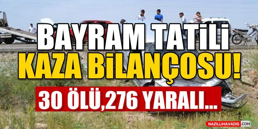 Bayram Tatili Kaza Bilançosu!